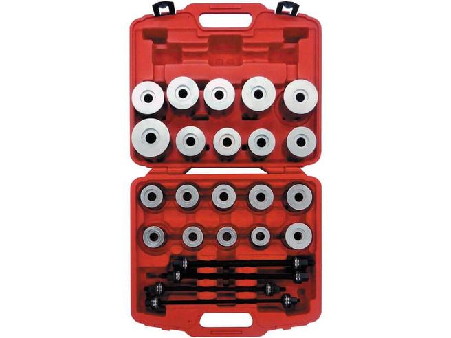 Набор для выпрессовки и запрессовки сайлентблоков Сорокин 40.34 (М10-М16, 24 предмета) Сорокин Ручной Инструмент
